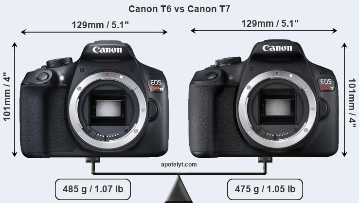 Canon T6 Vs T7 - A Thorough Comparison
