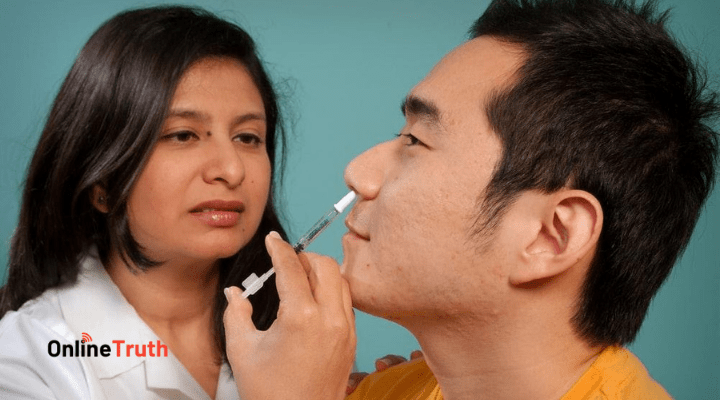 best skin specialist taking tasting sample