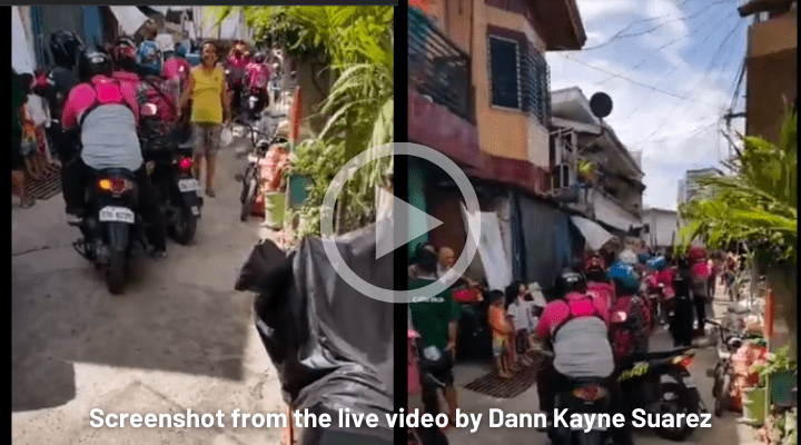 Philippines Girl Order Food Online 42 Riders Came For Delivery Viral Video