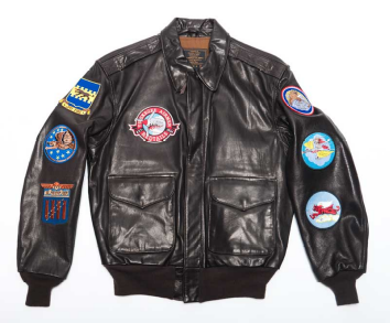 Creative Patches on a Leather Jacket